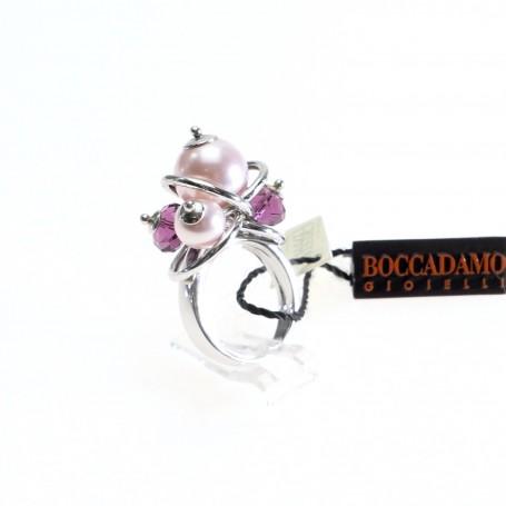 Boccadamo - Anello argento con perle swarovski. AN324