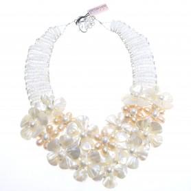Ottaviani - Collana con perline, strass e madreperla. 480001