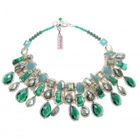 Ottaviani - Collana con quarzi, perline e strass. 480498