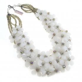 Ottaviani - Collana con cristalli, perline e madreperla. 500034C