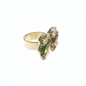 Arteregalo - Anello con cristalli e quarzi regolabile.