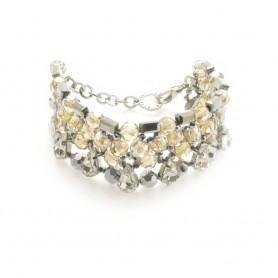 Ottaviani - Bracciale con perle, cristalli e strass.