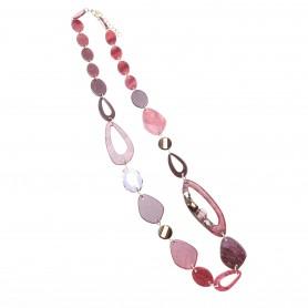 Arteregalo - Collana lunga catena con forme varie colorate.