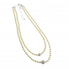 Ottaviani - Collana con perle e strass cm 41-49. Art. 500425C-1