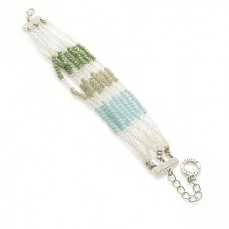 Ottaviani - Bracciale con perline, cristalli e quarzi.