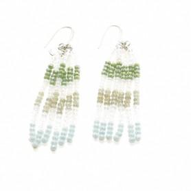 Ottaviani - Orecchini con perline, cristalli e quarzi.