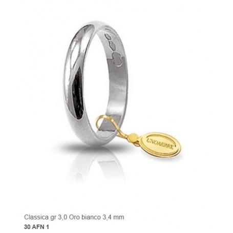 Unoaerre - Fede classica in oro 750 gr 3 mm 3,4.