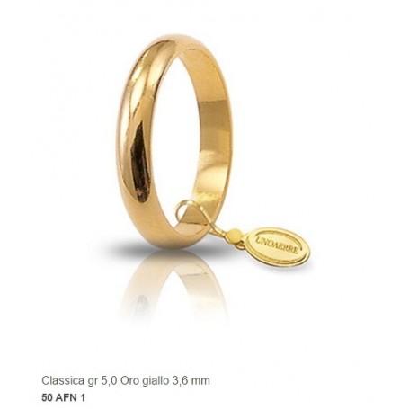 Unoaerre - Fede classica in oro gr 5 mm 3,6.