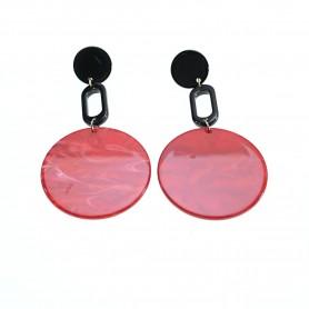 Arteregalo - Orecchini tondi rossi. FER269809