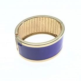 Arteregalo - Bracciale fascia larga dorata smalto blu. FER268212