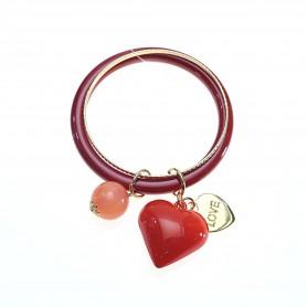 Arteregalo - Bracciale rigido rosso con charms. FER270786
