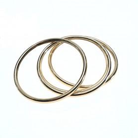 Arteregalo - Bracciale dorato multifili tubolare 67 mm. FER269833
