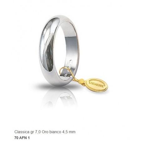 Unoaerre - Fede classica in oro gr 7 mm 4,5.