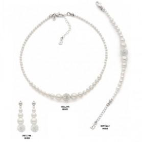 Boccadamo - Bracciale argento 925 con perle mm 4-10.