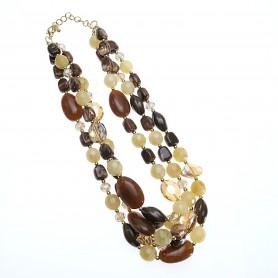 Arteregalo - Collana multifili con pietre colorate.