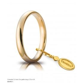 Unoaerre - Fede comoda in oro 750 mm 3 da g 3,9 a 4,8.
