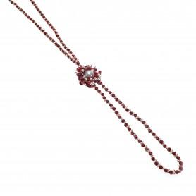 Moesi - Collana con perle e murrine rosse. Salemi.