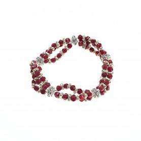Moesi - Bracciale con perle e murrine rosse. Salemi.