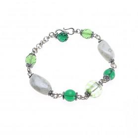 Moesi - Bracciale con murrine verdi.