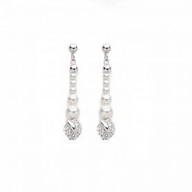 Boccadamo - Orecchini in argento 925 e perle swarovski. OR490