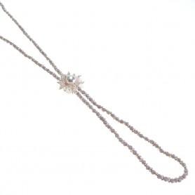 Moesi - Collana con perle e murrine glicine. Salemi
