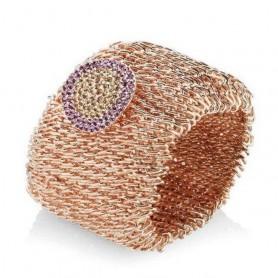 Ottaviani - Bracciale in maglia rosé con strass. 470409.