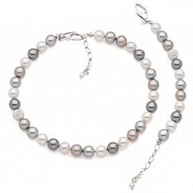 Boccadamo - Collana argento 925 e perle swarovski.