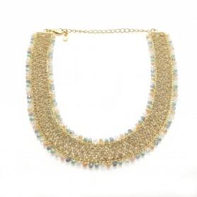Ottaviani - Collana con perline, cristalli e quarzi.