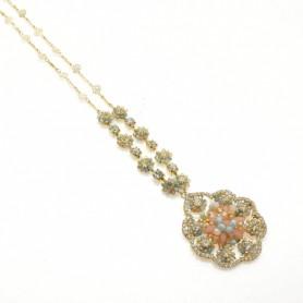 Ottaviani - Collana con perline, cristalli e quarzi. 480486.