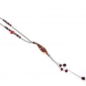 Moesi - Collana con murrine rosse. Isolde