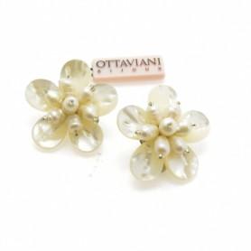Ottaviani - Orecchini con madreperla e perline. 490247