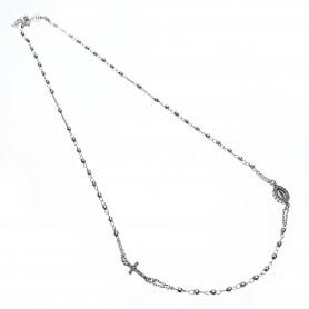 Agios - Coroncina corta con cristalli argento 925 cm 52-54.