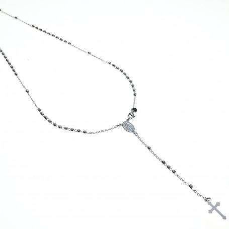 Arteregalo - Coroncina lunga argento con sfere brillantate..