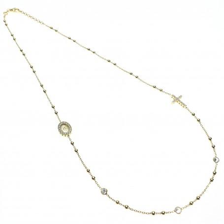 Arteregalo - Coroncina corta argento dorata con cristalli.