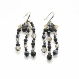 Ottaviani - Orecchini con perline, cristalli e quarzi. 490365