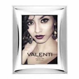 Valenti - Portafoto lucido in argento laminato, retro bianco. 520711