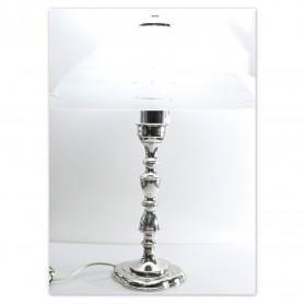 Arteregalo - Lume argento - H.50 cm - vetro diam. 37 cm