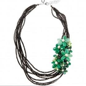 Ottaviani - Collana con agata, perle e cristalli. 500533C