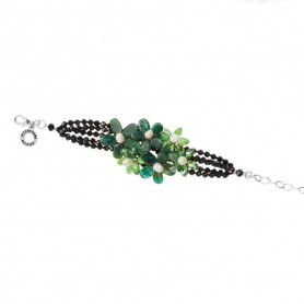 Ottaviani - Collana con agata, perle e cristalli. 500533B