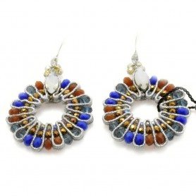 Ottaviani - Orecchini con perline e cristalli. 49951