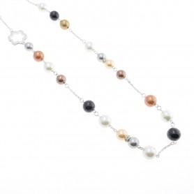 Arteregalo - Collana con perle multicolor.