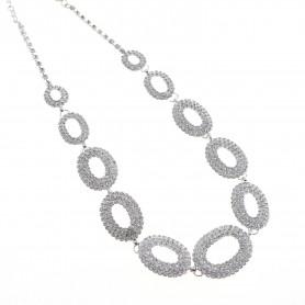 Arteregalo - Collana silver con pavè di zirconi.