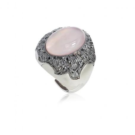 Artlinea - Anello in argento 925 rodiato. Regolabile.