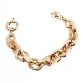 Arteregalo - Bracciale bronzo placcata oro rosa.