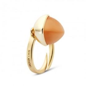 Boccadamo - Anello placcato oro giallo con cristallo color corniola. XAN160DO