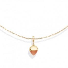 Boccadamo - Collana con cristallo color corniola pendente. XGR563DO