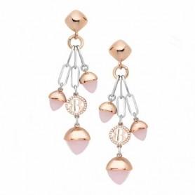 Boccadamo - Orecchini con cristalli pendenti color quarzo rosa. XOR531R