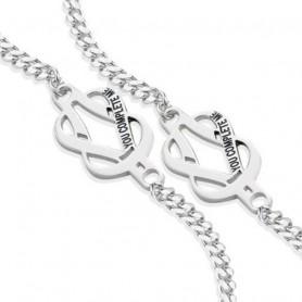 Artlinea - Due bracciali argento con nodo amore rodiato 925. ZBR695