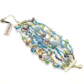 Ottaviani - Bracciale con cristalli, quarzi e perline. 470334