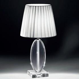 Ranoldi - Lampade cristallo con paralume tondo medio.